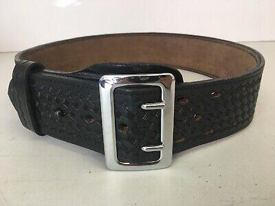 Gould /& Goodrich Lined Duty Belt Black Weave Size 58 Nickel