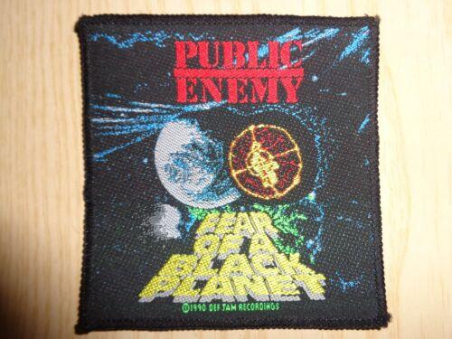 """PATCH PUBLIC ENEMY """"FEAR OF A BLACK PLANET"""" VINTAGE RARE 1990"""