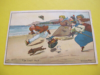 The Last Mail Comic Postcard Edmund G Fuller Artist