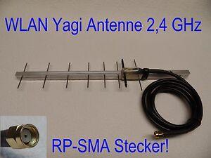 super wlan antenne richtantenne yagi 2 4 ghz rp sma 1 5m. Black Bedroom Furniture Sets. Home Design Ideas