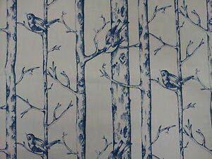 Prestigious Jenny Wren Porcelain Blue Bird Design Fabric