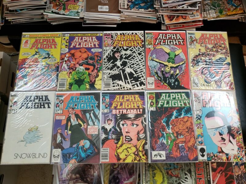10 Marvel Alpha Flight Comics (1st Appearance of Puck, Marrina, Tundra)