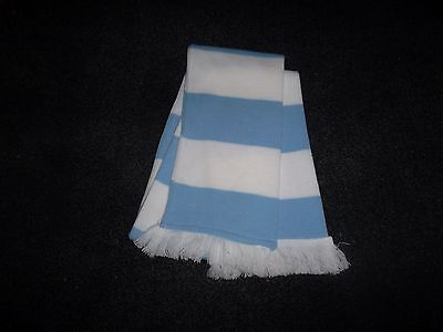 HORSE RACING SCARF BABY BLUE AND WHITE