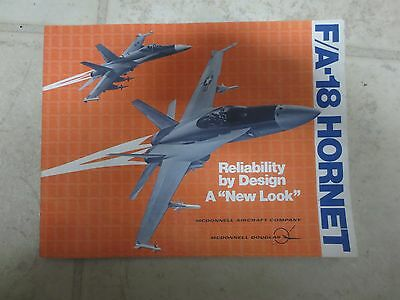 "RARE F/A-18 Hornet McDonnell Douglas March 1978 Booklet ""NOT FOR PUBLIC RELEASE"""