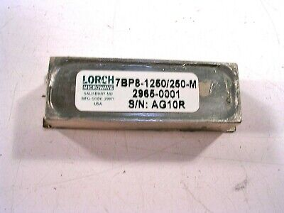 Lorch Rf Microwave Bandpass Filter 2965-001 New
