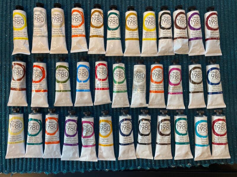 LOT OF 35 - Gamblin 1980 Oil Colors ~ Various Colors! ~ 37ml **NEW**