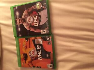 NHL 19 and ufc 3