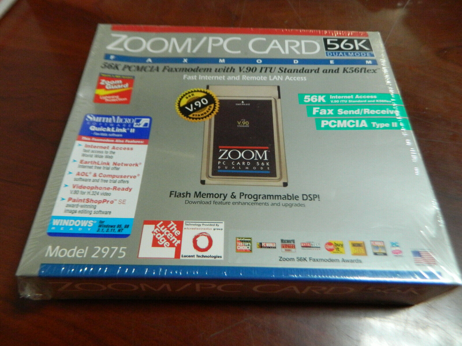 как выглядит Zoom/PC Card-New 56K DualMode PC/MCIA Faxmodeum with V.90 ITU Standard and K56Fl фото