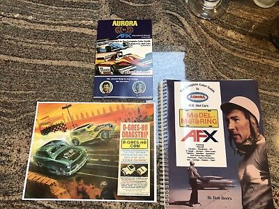 Two Aurora Tjet AFX slot car Books One Sold By The Author Plus Bonus