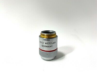 Leitz Plan Pl 4x0.10 160- Microscope Objective Lens Excellent Condition