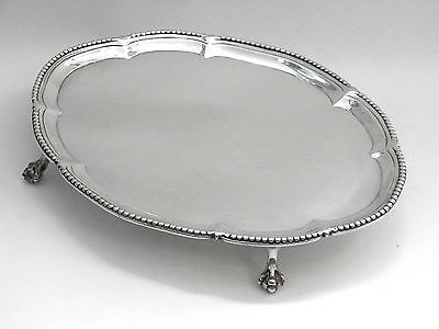 ANTIQUE GEORGIAN GEO. III SOLID SILVER SALVER / TRAY LONDON 1776