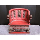 Antique Chinese Temple Buddha Statue Chair
