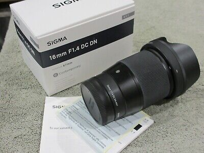 SIGMA 16MM F1.4 DC DN CONTEMPORARY LENS FOR SONY E MINT+