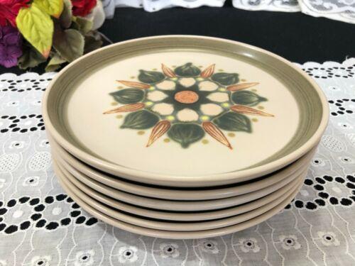 """Set of 6 Denby Langley """"Sherwood"""" Salad Plates 8 1/8"""""""