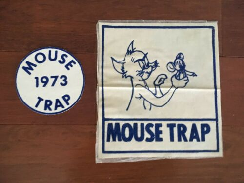 VTG RARE 1973 MOUSE TRAP TOM & JERRY PATCHES