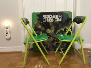 Nina's turtle table and chair for kids