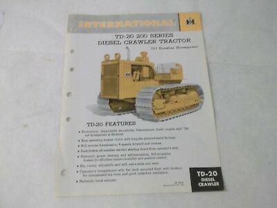 International Harvester Td-20 Diesel Crawler Manual