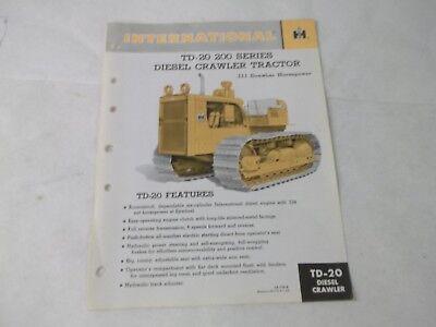 International Harvester Td-20 Diesel Crawler Manual