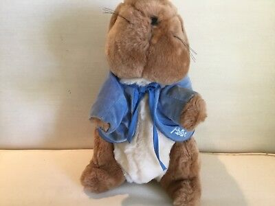 Peter Rabbit Plush Stuff Animal Frederick Warne Bunny Blue Coat Easter  for sale  Shipping to Canada