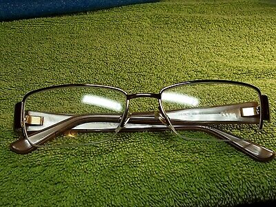 Vintage GUCCI GG 2878 M12 Semi Rimless Eyeglass Frame 52□17 135 Copper/brown