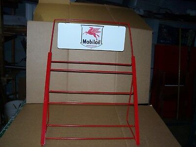 MOBIL QT OIL CAN RACK for DISPLAY