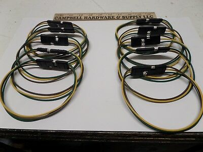 3 Pole Pin Conductor Flat Molded Trailer Loop Connector - Lot Of 10