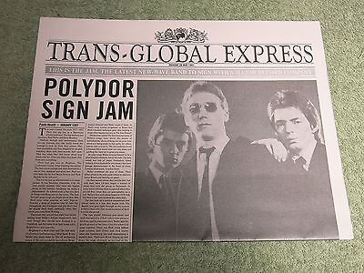 THE JAM Trans global Express PROMO NEWSPAPER!