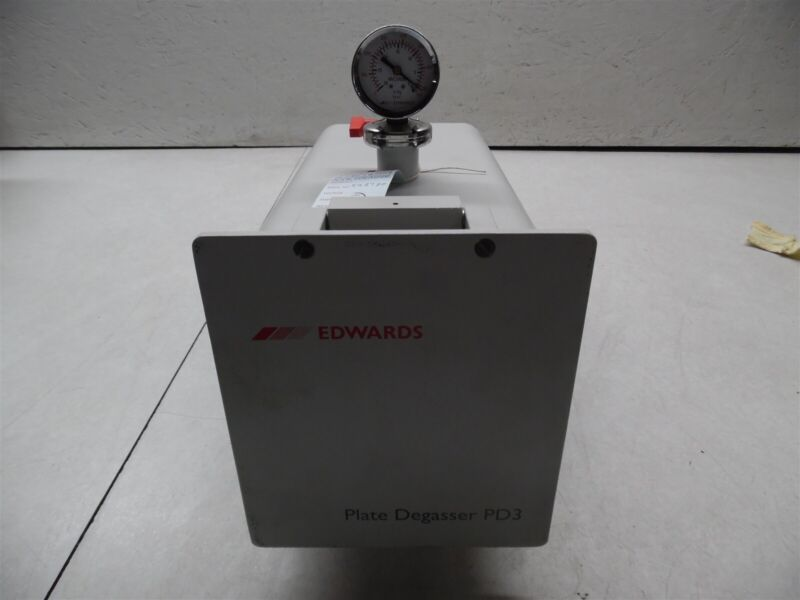 Edwards Plate Degasser PD3 Vacuum Chamber