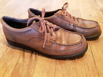 Iron Age Steel Toe Mens Brown Shoes Size 10.5 - Leather