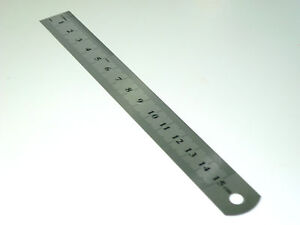 BRAND-NEW-15CM-6-INCH-STAINLESS-STEEL-METAL-RULER-RULE-PRECISION-DOUBLE-SIDED