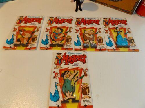 Vintage lot of 5 Hanna Barbera The Flintstones Magnetic Figurines MOC