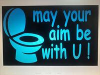 MOM SAYS AIM IT'S SMALL Restroom Door Wall Sign Plaque Unisex Retro Funny Chic
