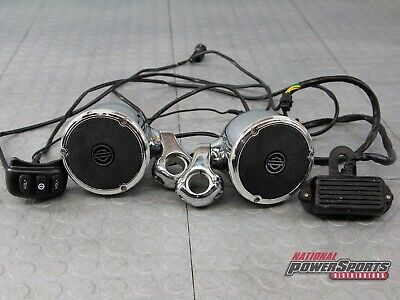 GENUINE HARLEY DAVIDSON BOOM! AUDIO CHROME HANDLEBAR SPEAKER KIT
