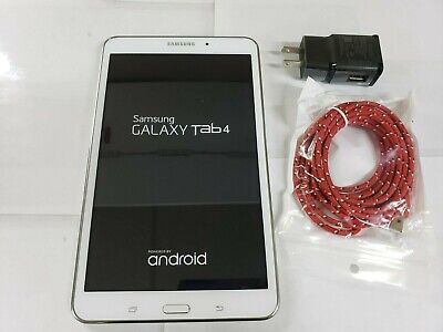 "Samsung Galaxy Tab 4 SM-T337A 16GB WiFi  8"" Inch WHITE A&T TABLET 5.1.1 ANDROID"