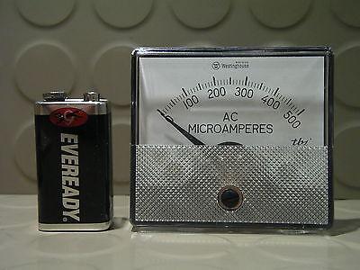 Vintage Westinghouse Panel Meter Current Amp Ammeter 500ma Ac N.o.s.