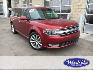 2017 Ford Flex Limited 3.5L V6 ECOBOOST, NAVIGATION, MOON ROO...