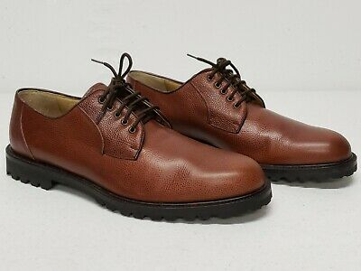 Italian Premier Nordstrom Oxfords Handcrafted Full Grain Brown Leather Mens 10.5 Brown Italian Handcrafted Leather
