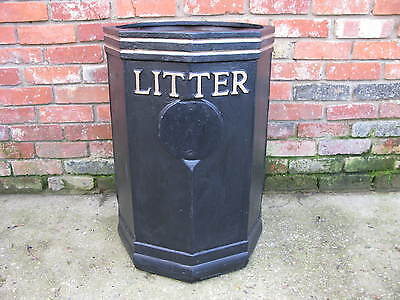 Vintage Cast Iron Litter Bin