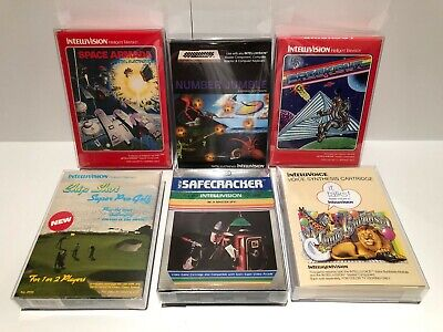 Intellivision 6-Game Lot // Excellent Condition // Breakout, Chip Shot, & More!