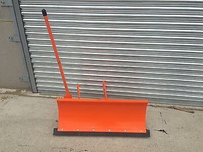Orange Snow Plough For QUAD BIKE, LAWN MOWER, COMPACT TRACTOR MUCK TRUCK