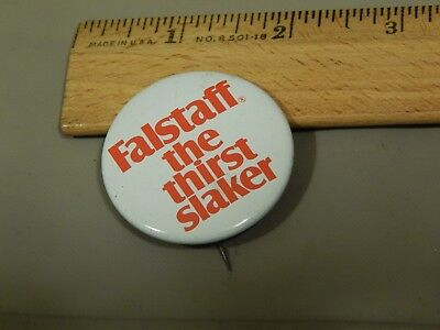 """Falstaff """"The Thirst Slaker"""" (Vtg) '60s Beer Campaign Promo [PIN_BUTTON] Ltd"""