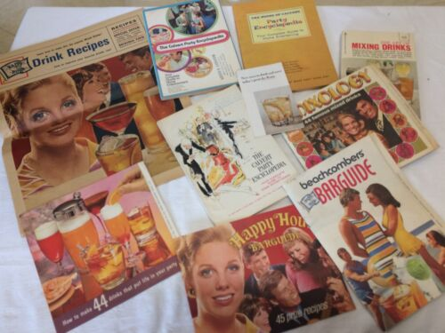 VINTAGE Lot Barguide Cocktail Mixology Art of Mixing Drinks Calvert Party Book