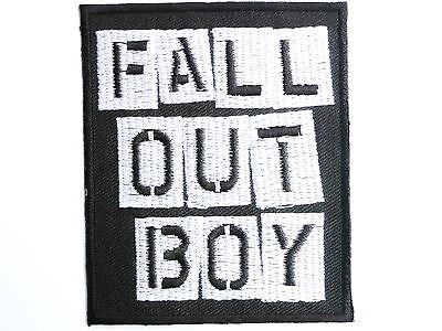 """FALL OUT BOY Logo Iron On Sew On Rock Emo Embroidered Patch 3"""""""