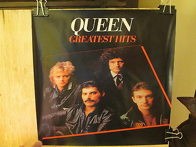 Lot of 3 QUEEN Greatest Hits POSTERS - small 12.25 x 12.25 inches  EX condition
