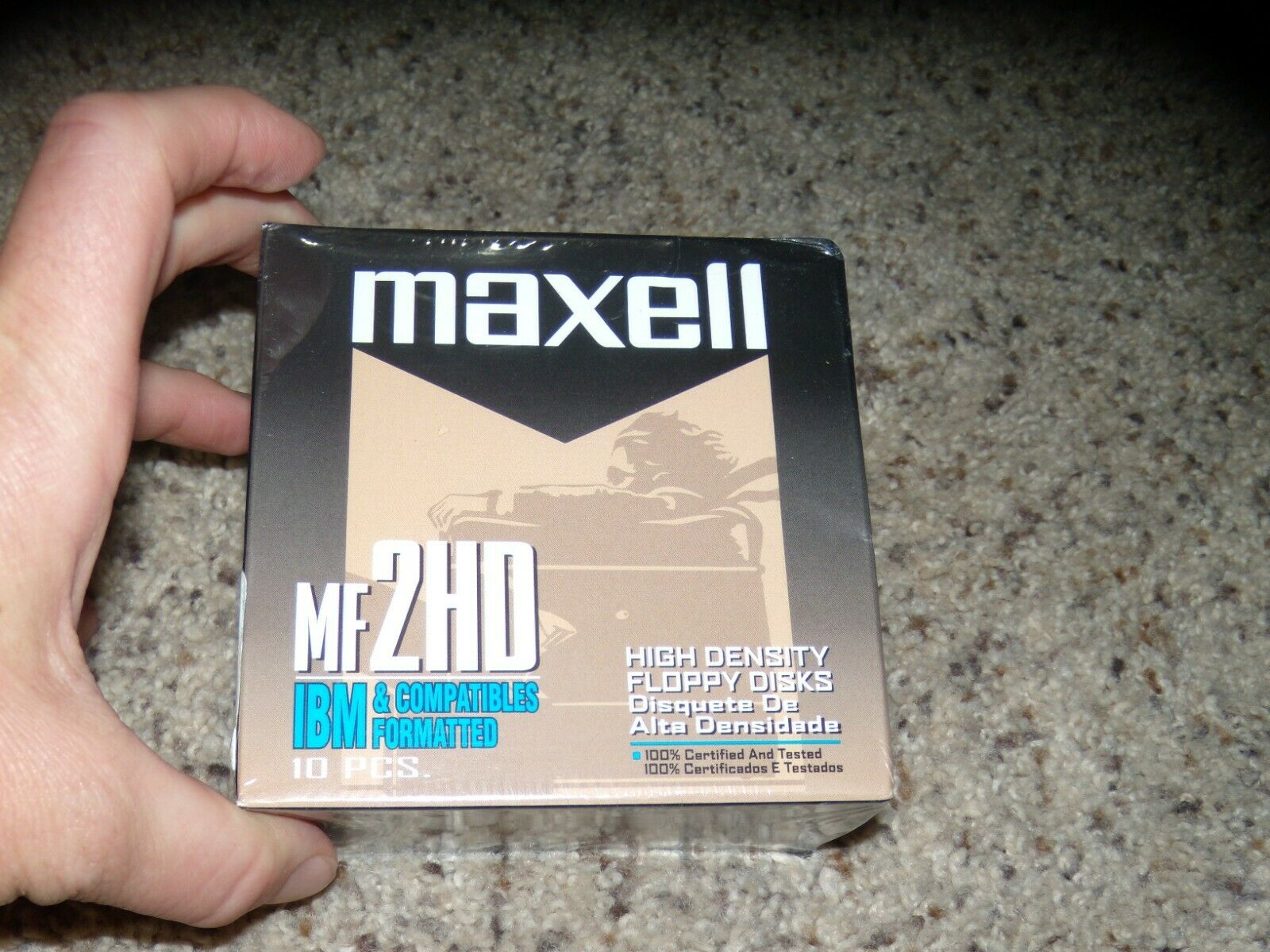 Lot Of 10 IBM Maxell High Density Floppy Disks New And Sealed - $8.99