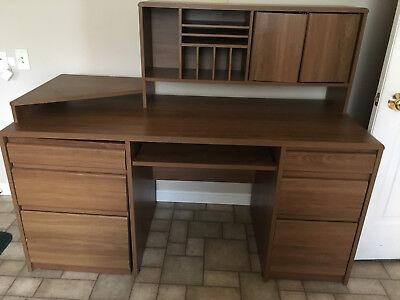 O'Sullivan Computer Workcenter Model 63310 Brown Wooden Desk