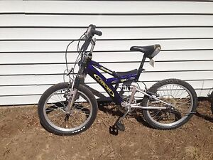 "20"" dual suspension kids 6 sp bike"