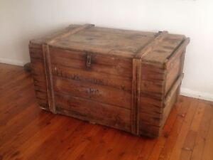 Vintage industrial trunk / coffee table Earlwood Canterbury Area Preview