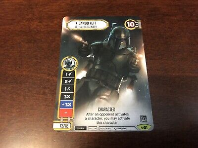 Star Wars Destiny Alt Art Jango Fett 2017 Promo