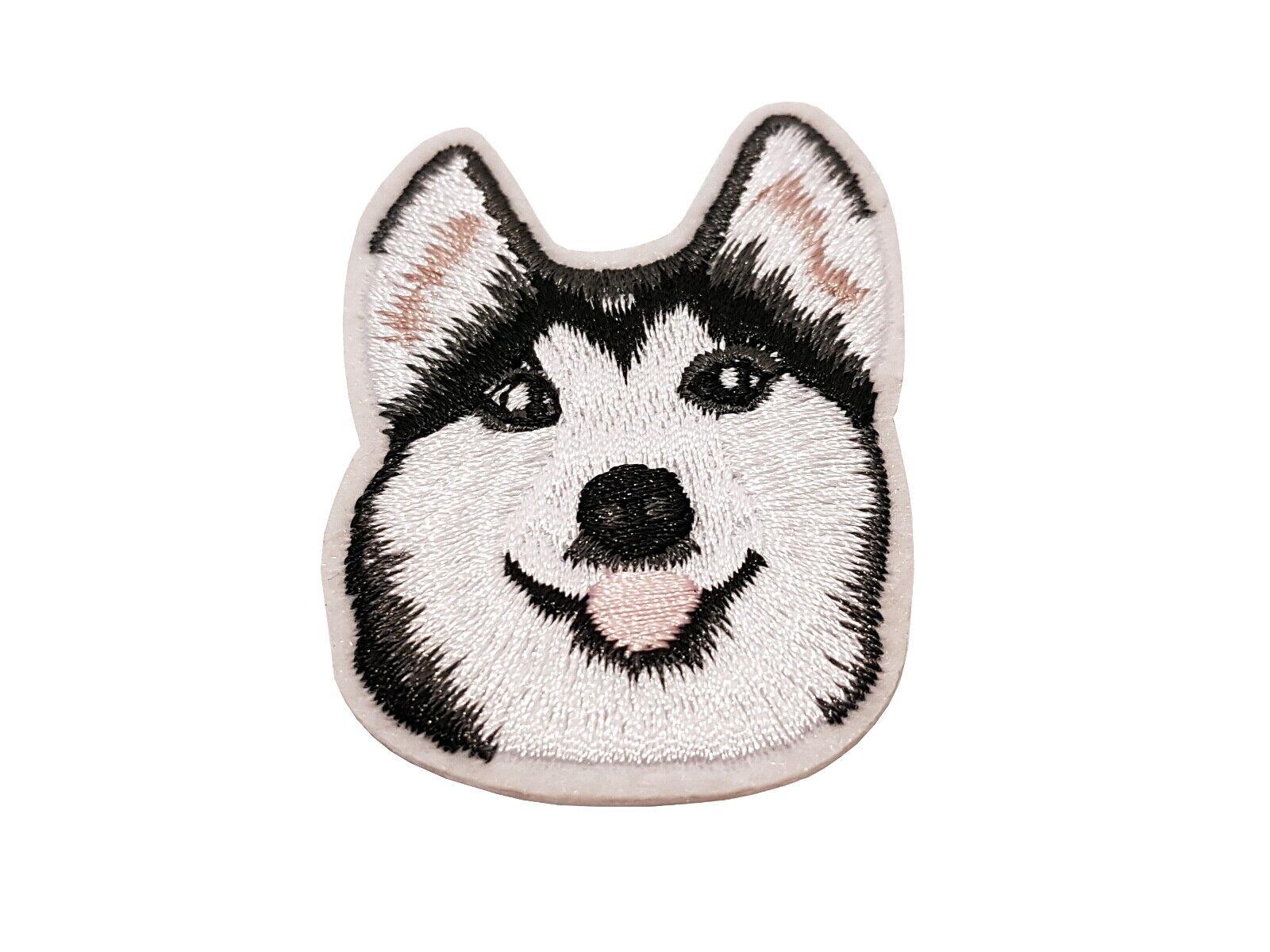 Patch Husky - gestickter Aufnäher Flicken Bügelbild zum aufbügeln aufbügeln